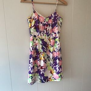J.Crew | NWOT Floral Dress Pockets 2 XS purple new